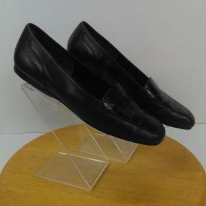 Enzo Angiolini Liberty Flat Loafers Black Leather